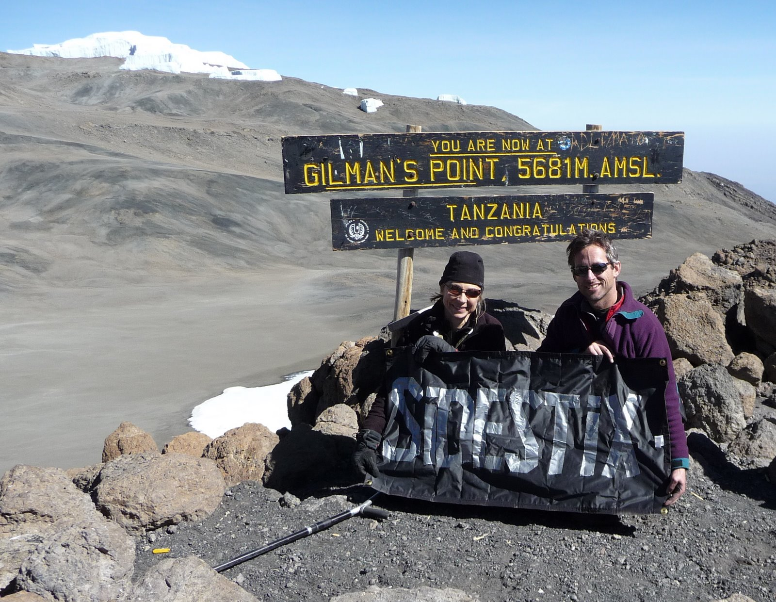 Gilman's Point, Mt. Kilimanjaro, SideStix blog