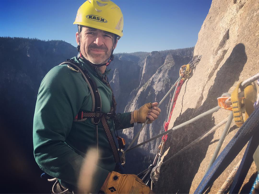 Alex McKiernan climbing El Capitan