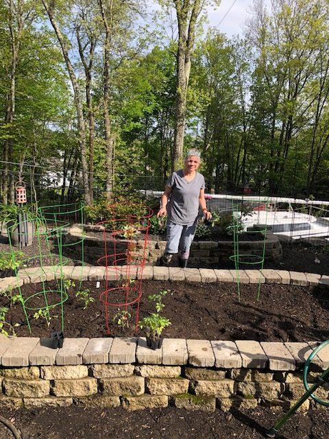 Gina Kothe in her garden